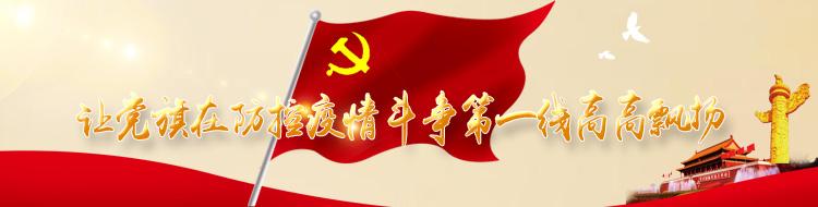 让党旗在防控疫情斗争第一线高高飘扬