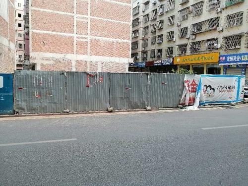 建筑围挡宣传损坏